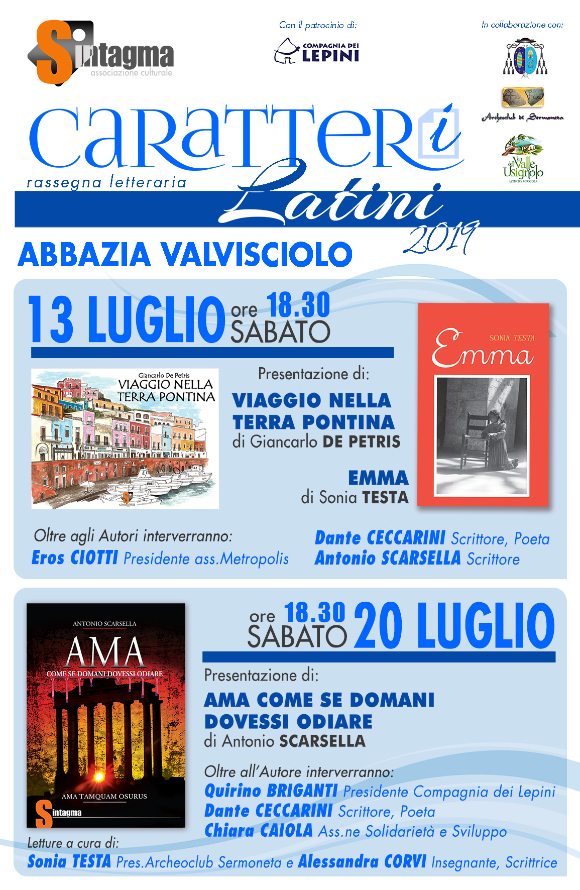 Caratteri Latini 2019
