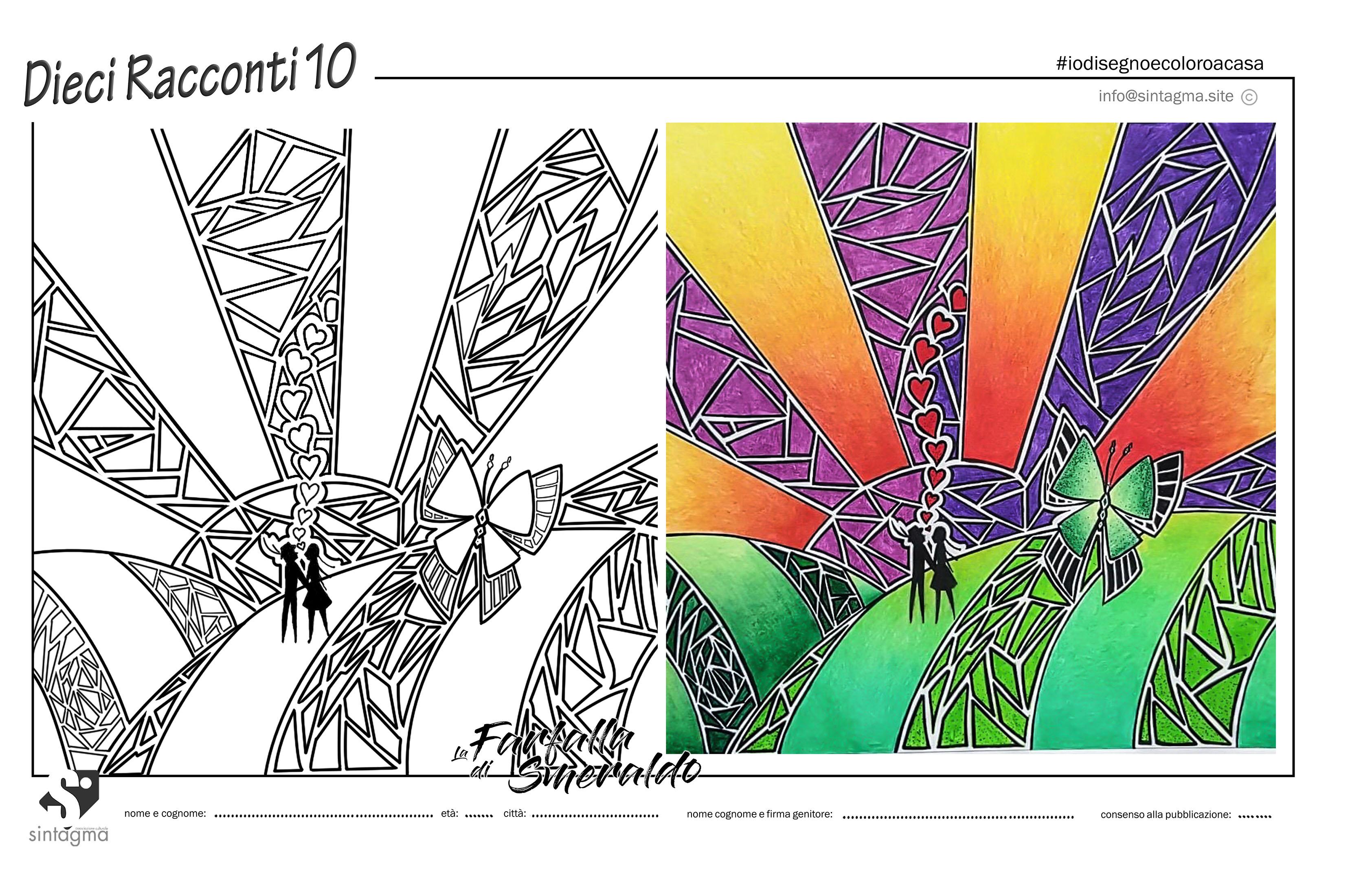 Colora il disegno della Farfalla di Smeraldo